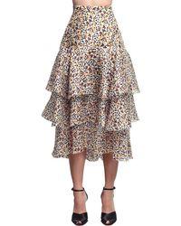 Delpozo シルクオーガンザスカート Multicolor