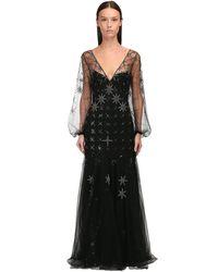 Temperley London ジョーゼットドレス Black