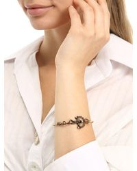 Alcozer & J - Metallic Pearl Emerald Bangle Bracelet - Lyst