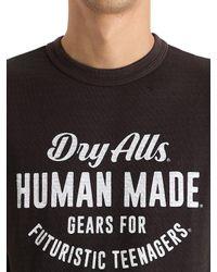 T-shirt En Coton Imprimé Human Made pour homme en coloris Black