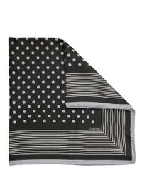Tom Ford | Black Polka Dot Bandana with Stripey Border for Men | Lyst
