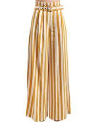 Брюки Из Вискозной Саржи Maison Margiela, цвет: Multicolor