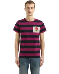 メンズ Kent & Curwen Gridlan コットンシャンブレーtシャツ Multicolor