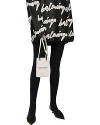 Balenciaga Shopping レザースマートフォンホルダー White