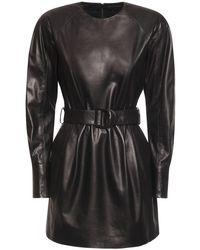 DROMe Black Minikleid Aus Leder