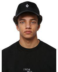 Marcelo Burlon Black Starter Logo Cross Nylon Baseball Cap for men