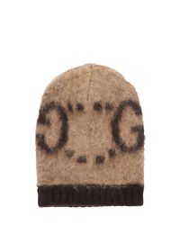 Шапка Из Мохера Gucci, цвет: Brown
