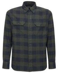 Camisa De Algodón A Cuadros Tom Ford de hombre de color Blue