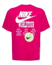 メンズ Nike World Tour Tシャツ Pink