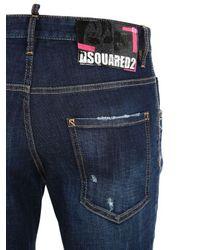 "Jeans ""Skater"" De Denim De Algodón Con Cadena 16Cm DSquared² de hombre de color Blue"