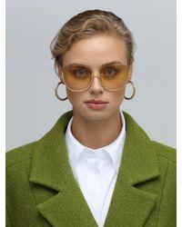 Linda Farrow Multicolor Kennedy Oversize Sunglasses