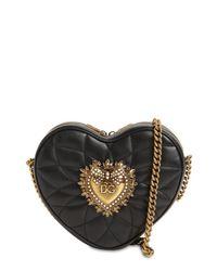 Dolce & Gabbana Hart Devotion キルテッドレザーバッグ Black