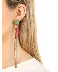 Iosselliani - Metallic Long Fringe Earrings - Lyst