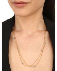 FEDERICA TOSI - Metallic Lace Mini Balls Necklace - Lyst