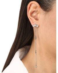 FEDERICA TOSI - Black Long Mini Stars Crystal Earrings - Lyst