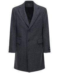 Шерстяное Пальто Z Zegna для него, цвет: Gray