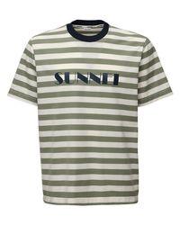 メンズ Sunnei コットンtシャツ Green