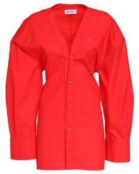 The Attico コットンシャツミニドレス Red