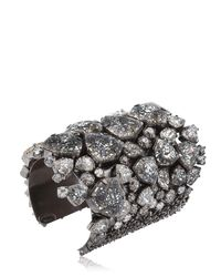 On Aura Tout Vu - Black Patina Cuff Bracelet - Lyst