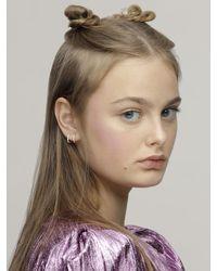 FEDERICA TOSI Multicolor Mini Hoop Earrings W/ Crystals