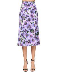 Юбка Anemone С Принтом Dolce & Gabbana, цвет: Purple