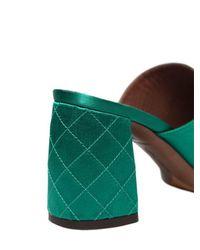"Tabitha Simmons Green 75mm Hohe Mules-schuhe Aus Seidenmischung ""thelma"""