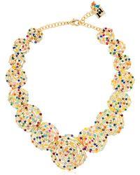 Rosantica - Metallic Pizzo Necklace - Lyst