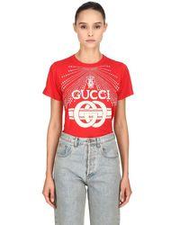 Gucci コットンジャージーtシャツ Red