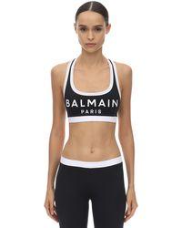 Спортивный Купальник С Логотипом Balmain, цвет: Black