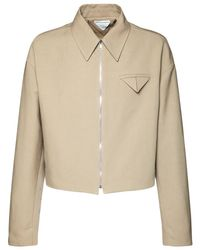 Куртка Из Канваса На Молнии Bottega Veneta для него, цвет: Natural