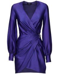 Vestido De Satén Drapeado Amen de color Purple