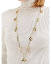 Aurelie Bidermann - Metallic Aurelie Chain Necklace With Charms - Lyst