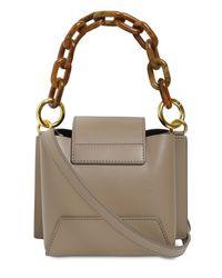 Yuzefi Multicolor Daria Leather Top Handle Bag