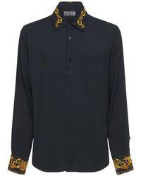 メンズ Versace Jeans Baroque ビスコースシャツ Black