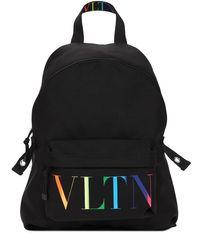 メンズ Valentino Garavani Vltn ナイロンバックパック Black