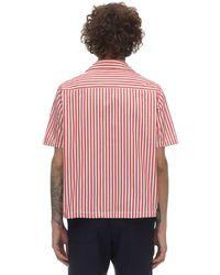 メンズ Bode コットンシャツ Red