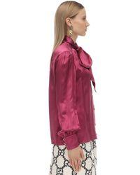 Gucci シルク&ビスコースシャツ Red
