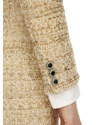 Robe Longue En Tweed Avec Sequins Alessandra Rich en coloris Metallic