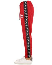 Kappa Red Authentic Anac Sweatpants for men