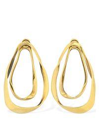 Alexander McQueen Metallic Double Layer Shaped Drop Earrings