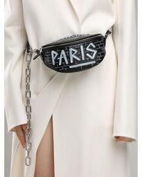 Balenciaga Xxs Souvenirs グラフィティ レザーベルトバッグ Black