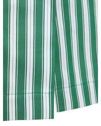 Rosie Assoulin Green Cotton Cocktail Dress W/ Puff Sleeves