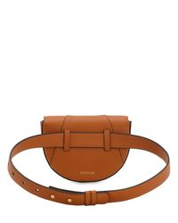 Versace Brown Virtus Smooth Leather Belt Bag