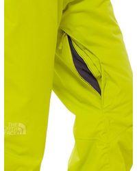 The North Face Yellow Presena Insulated Nylon Ski Pants