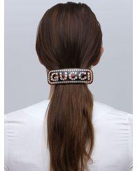 """Hebilla Maxi Para El Cabello """"Gg Crystal"""" Gucci de color Multicolor"""
