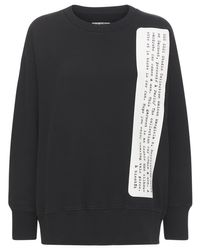 MM6 by Maison Martin Margiela オーバーサイズジャージースウェットシャツ Black