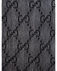 Gucci Black Gg Jacquard Stockings