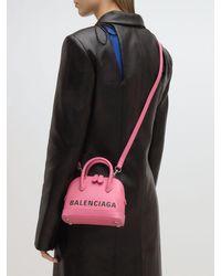 Borsa Top Handle Ville XXS di Balenciaga in Pink