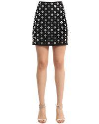 David Koma Black Embellished Mini Skirt