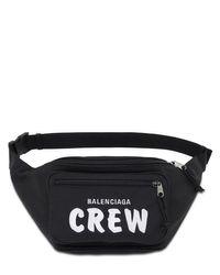 Balenciaga Gürteltasche Aus Nylon Mit Crew/logostickerei in Black für Herren
